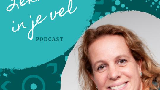 logo podcast Lekker in je vel - haptotherapie Linda Vermeulen